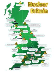 Map Of Uk Nuclear Bunkers.Nuclear Britain Map Campaign For Nuclear Disarmament