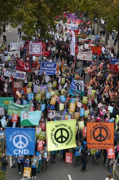 CND campaigning against Trident