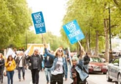 Nurses not Nukes: anti-nuclear bloc at People's Assembly 'After Covid, Demand a New Normal' national demonstration