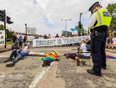 Activists disrupt the DSEI arms fair