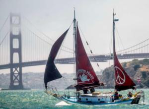 Golden Rule with Golden Gate bridge behind