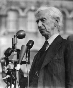 Philosopher Bertrand Russell, leader of the Committee of 100