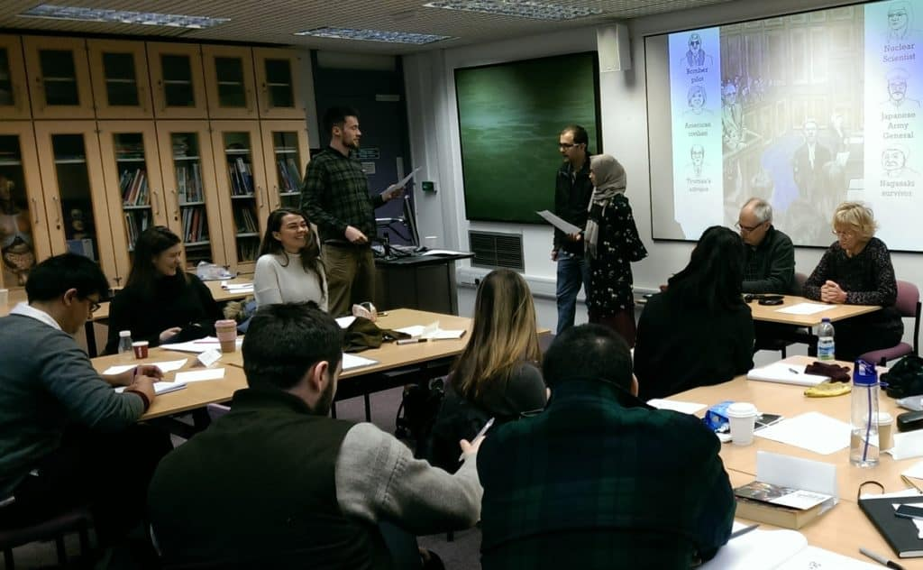 A teacher training session at UCL's Institute of Education