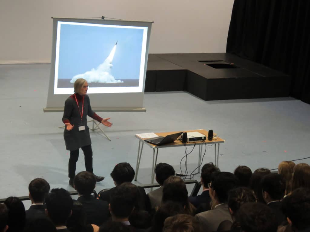 An assembly at Leicester Grammar School