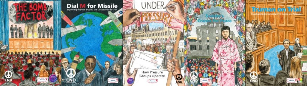 The front covers of our five free teaching packs