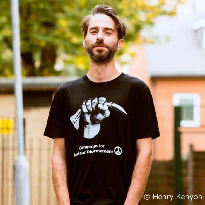 CND's new Peter Kennard designed Crushed Missile T-shirt